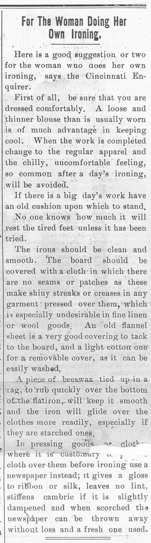 Ironing Southalnd Call 4-12-1910