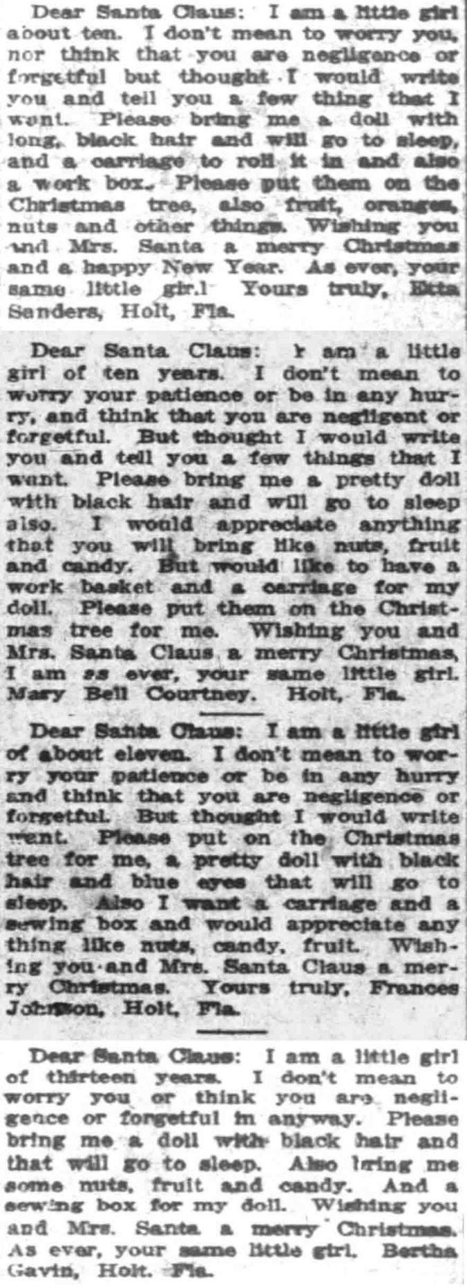 Dear Santa Claus 1912