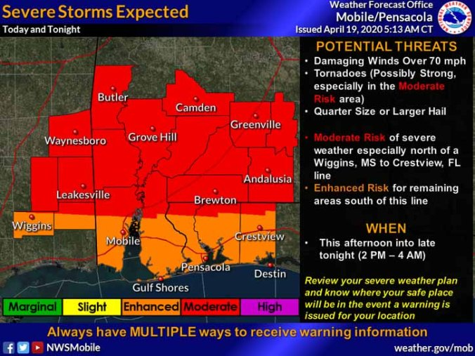 severe weather threat this afternoon into tonight holt enterprise news holt enterprise news