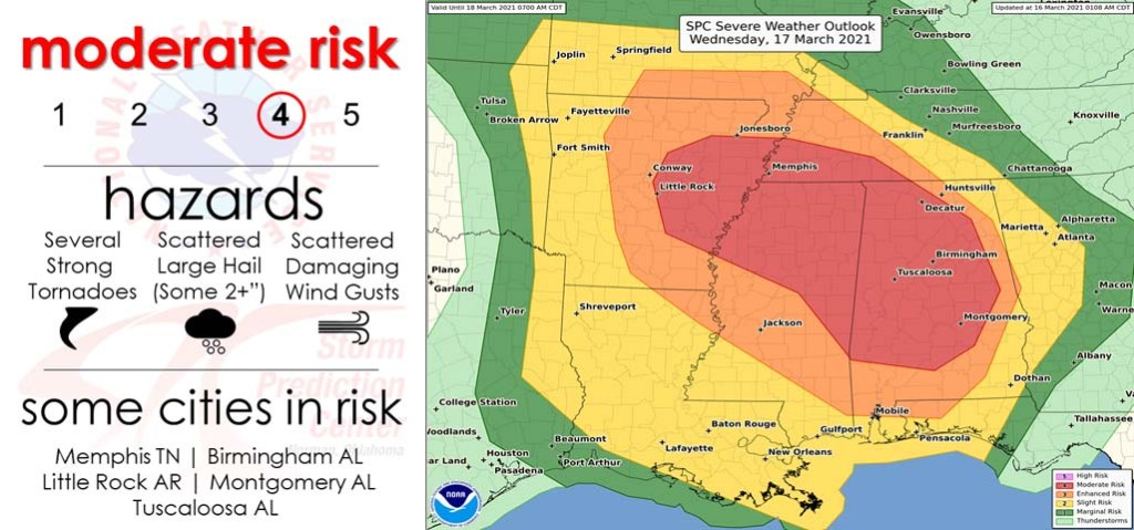 From the National Weather Service Storm Prediction Center